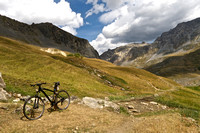 Mountain bike ride, below (NE of) Col de Galibier, Black Lion (Jim's bike) pictured