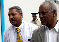 Medical Director Alemayehu and LeAlem laboratory chief.