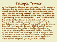 Overview of Jim's work in Ethiopia